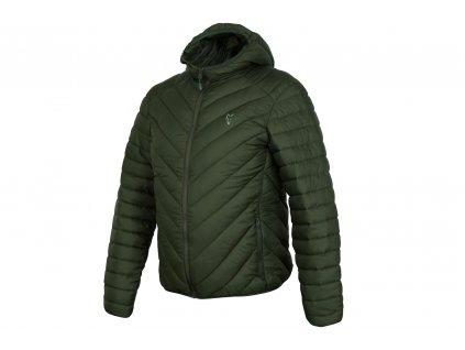Fox Collection Quilted Jacket Green/Silver (Varianta Fox Collection quilted Jacket Green / Silver - XXXL)