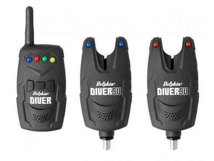 Sada signalizátorov Delphin DIVER 9V (Varianta Sada signalizátorov Delphin DIVER 9V - 2+1)