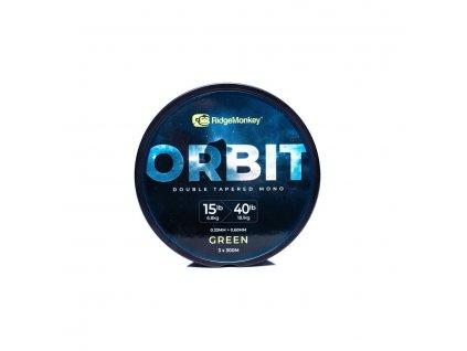 RidgeMonkey: Vlasec RM-Tec Orbit Double Tapered Mono 0,33-0,60mm 15-40lb 3x300m Green
