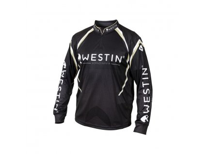 Westin: Tričko LS Tournament Shirt Black/Grey Velikost XL
