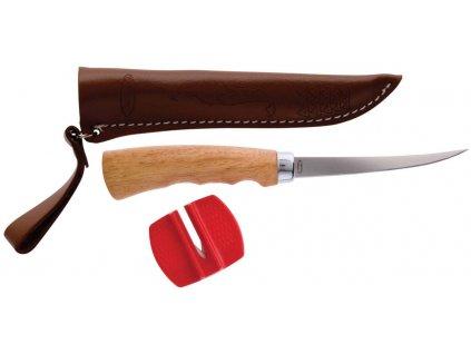 Filetovací nůž s dřevěnou ručkou a pouzdrem Berkley (čepel 10cm) (Varianta Filetovací nůž s dřevěnou ručkou a pouzdrem Berkley (čepel 10cm))