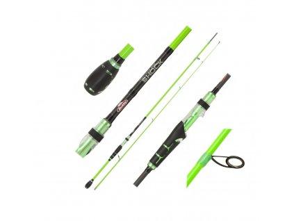 Přívlačový prut Berkley Lighting Shock Green Spin M 2,40m 10-35gg (Varianta Přívlačový prut Berkley Lighting Shock Green Spin M 2,40m 10-35gg)
