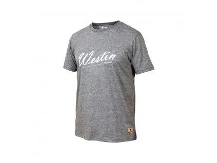 Westin: Tričko Old School T-Shirt Grey Melange Velikost L