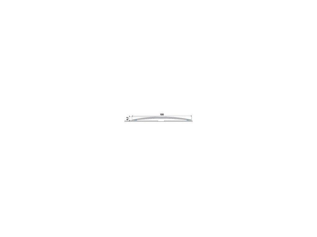 A72 prechodová lišta 10cm samolepiaca / EFFE A72 STRIEBRO 2m