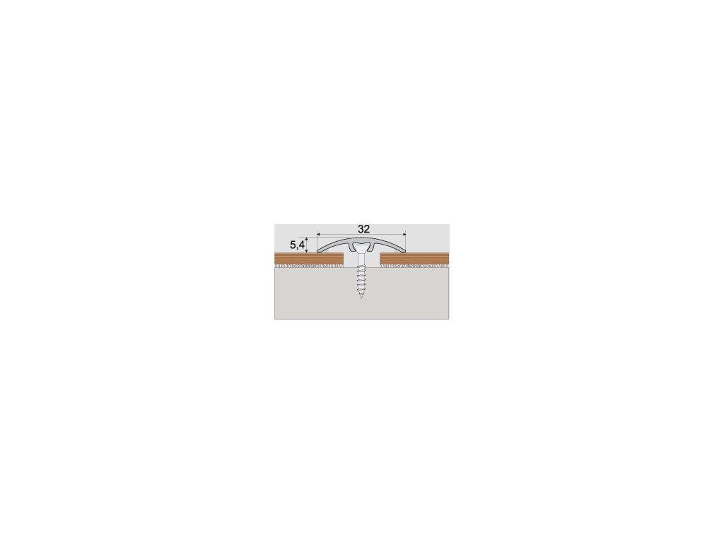 A66 prechodová lišta 3cm narážacia /A66 ORECH CHILE 0,93m