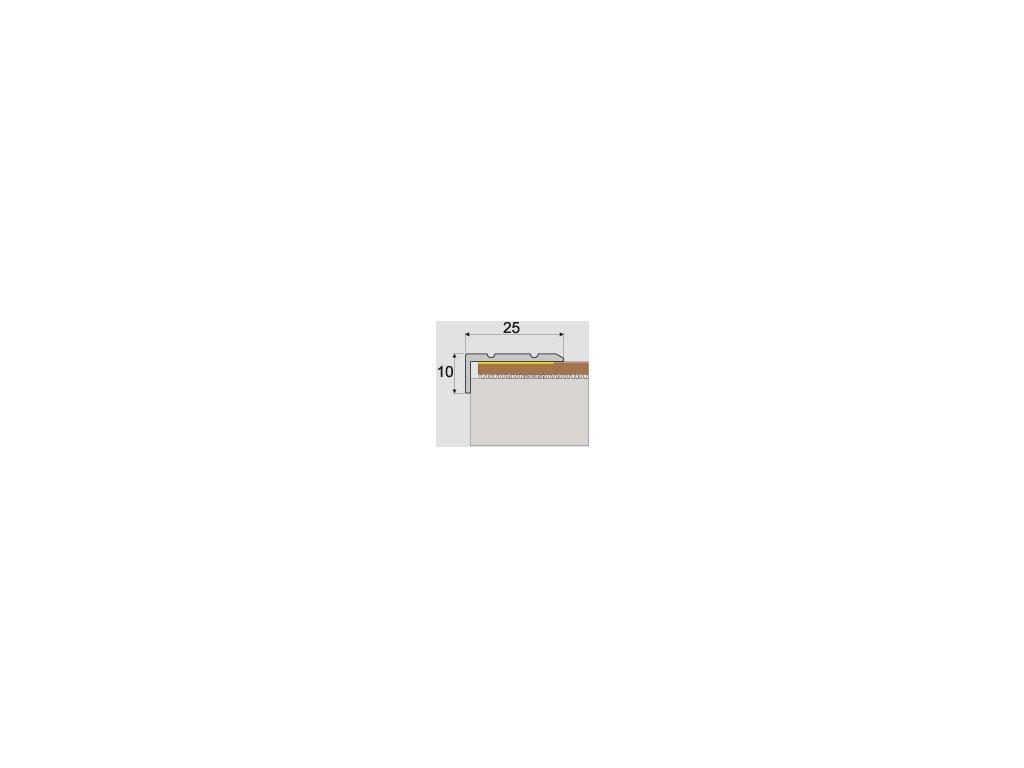 A31 schodový profil 25x10 samolepiaci 1