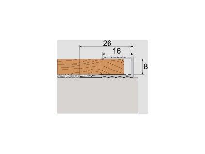 A63 ukončovací profil 16x8 1