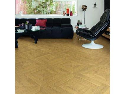 Laminátová podlaha - Quick Step / Impressive Patterns 8/32 2V AQ / Dub chevron prírodný IPA4161