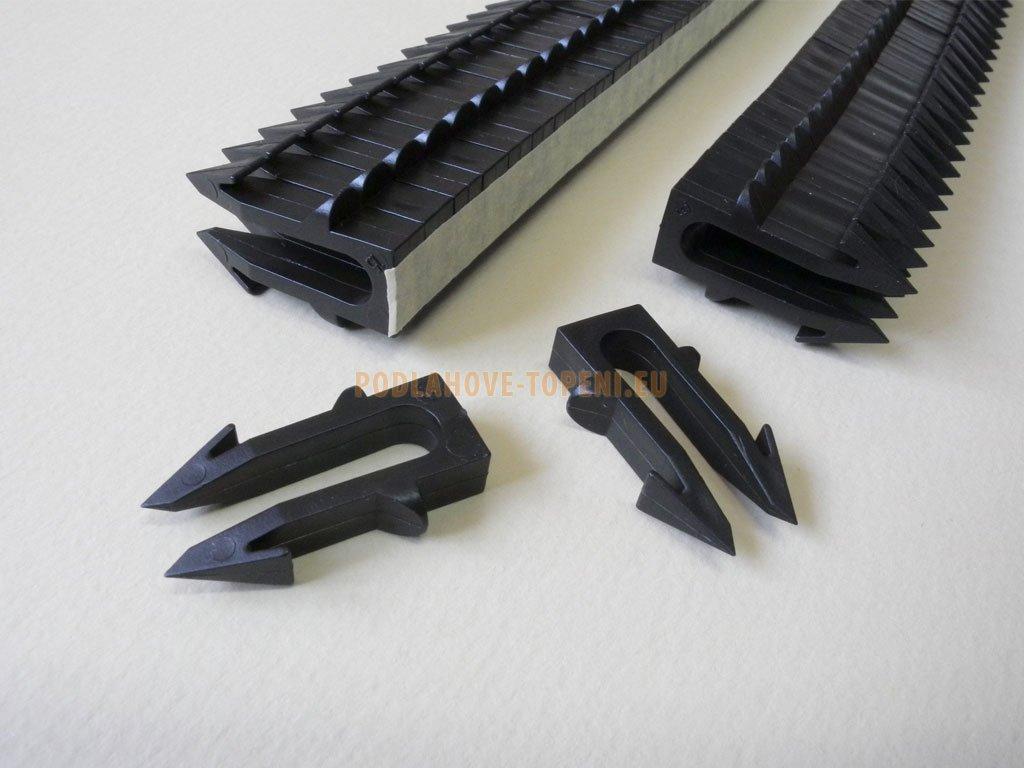 Příchytky topného kabelu pro montážní hůl. Balení 60 ks