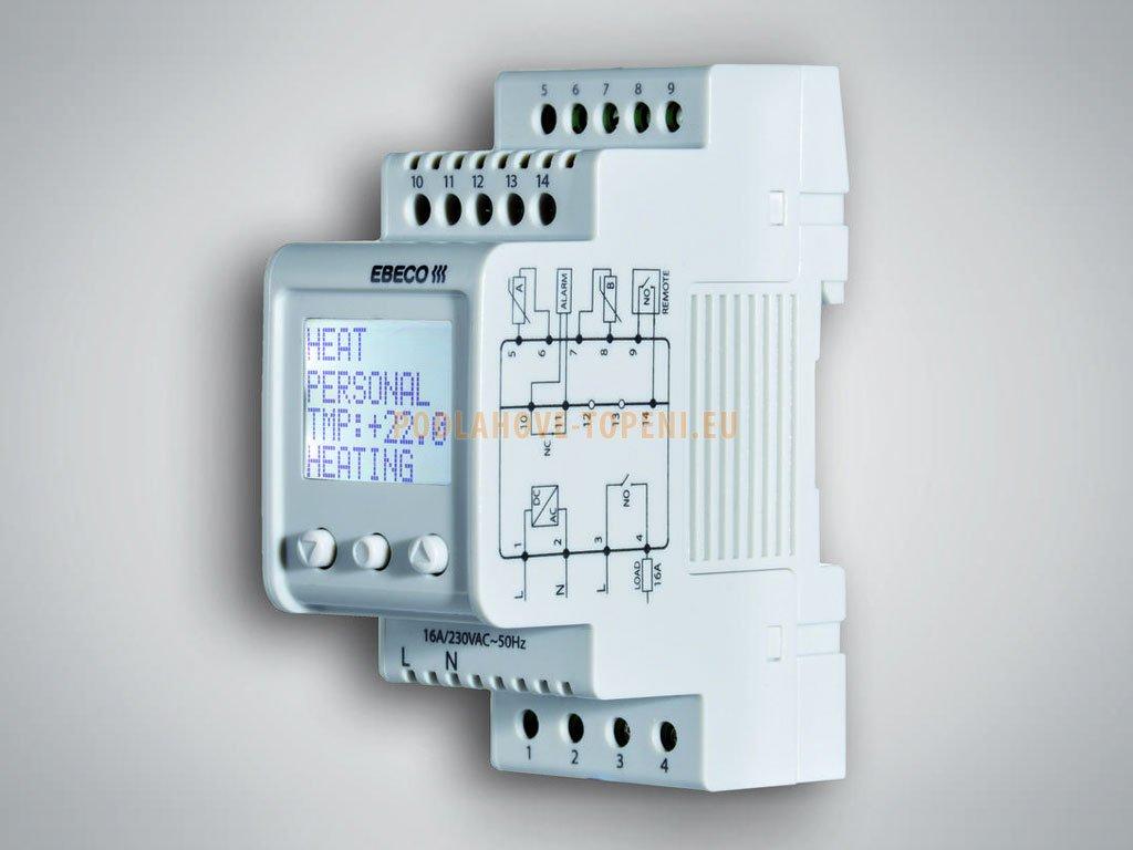 EB-Therm 800 digitální termostat s LCD displejem na DIN (2 moduly)