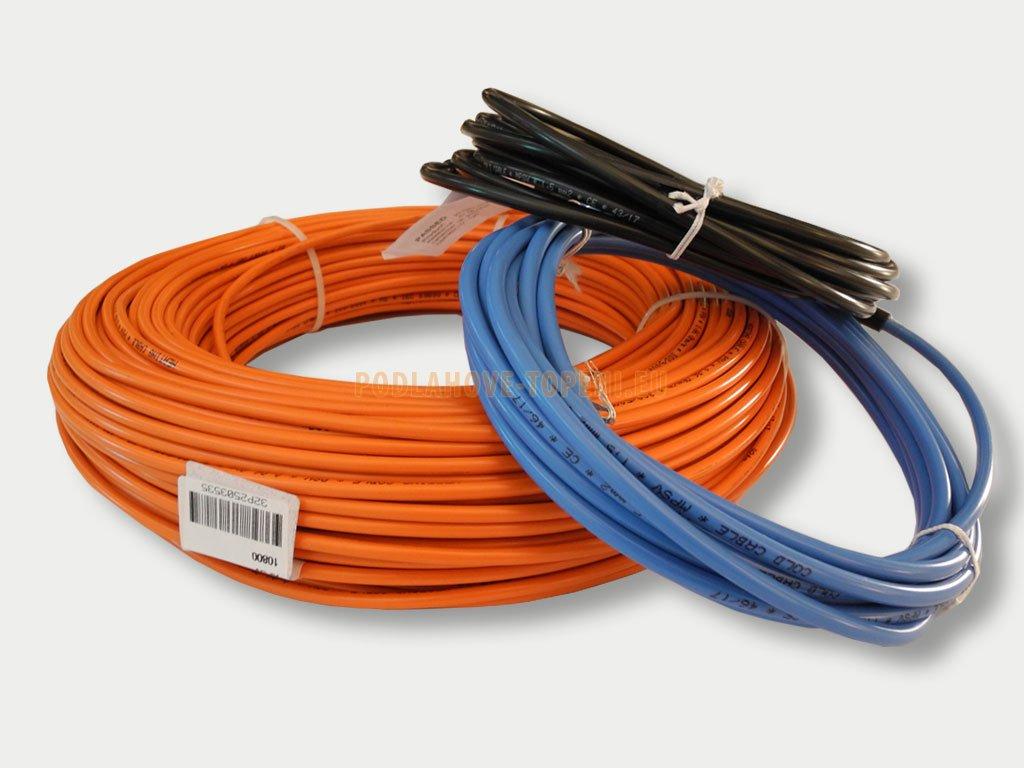 PSV 101280 Topný kabel s ochranným opletením, 1280W, 10W/m, 129,6 m
