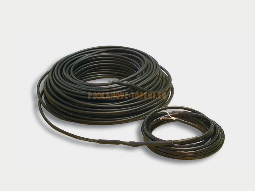 ADPSV 181200 Topný kabel s ochranným opletením, 1200W, 18W/m, 68,9m
