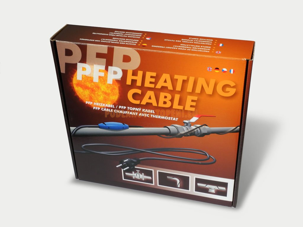 PFP 4m/48W, Topný kabel na potrubí s termostatem pro ochranu proti zamrzání