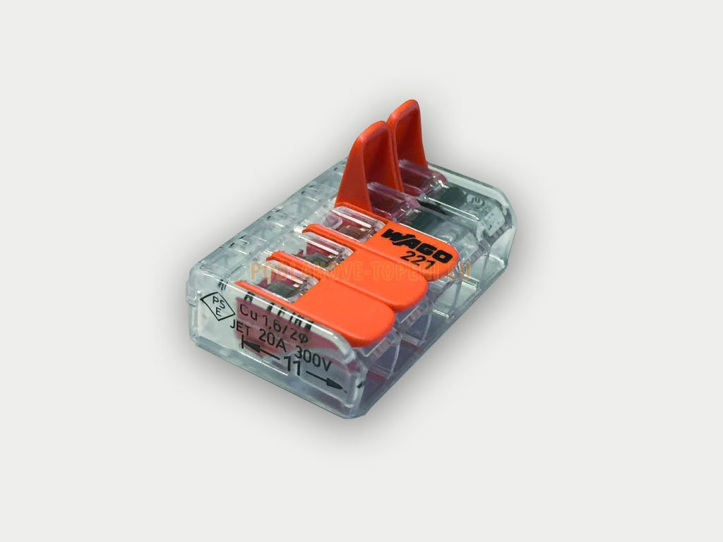 WAGO spojka k propojení připojovacích vodičů