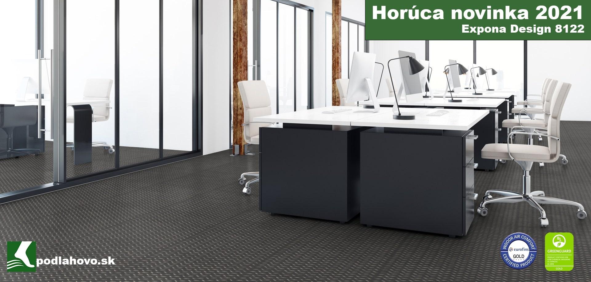 Expona Design 8122 Black Treadplate - Vinylové podlahy