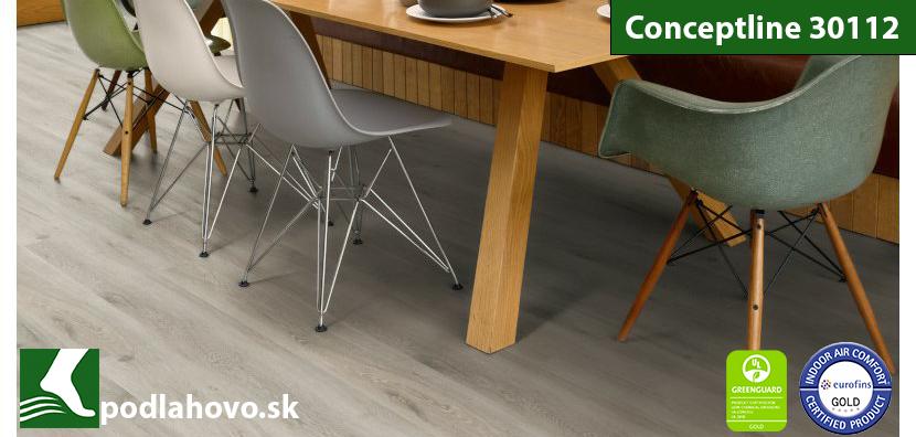 Conceptline Acoustic Click 30112 4V Dub škandinávsky biely bielený - vinylová podlaha