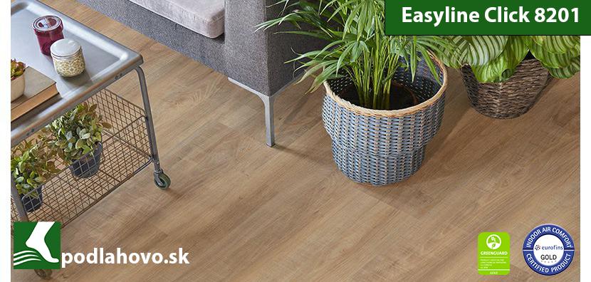Easyline Click 8201 Topoľ Kávový - vinylová podlaha