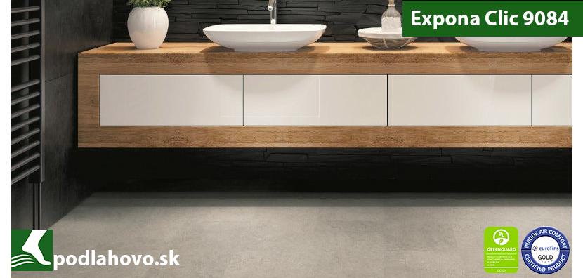 Expona Clic 19 dB 9084 Arctic Concrete - vinylové podlahy SPC Rigid vinyl