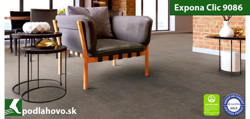Expona Clic 19 dB 9086 Factory Concrete - vinylová podlaha SPC Rigid vinyl