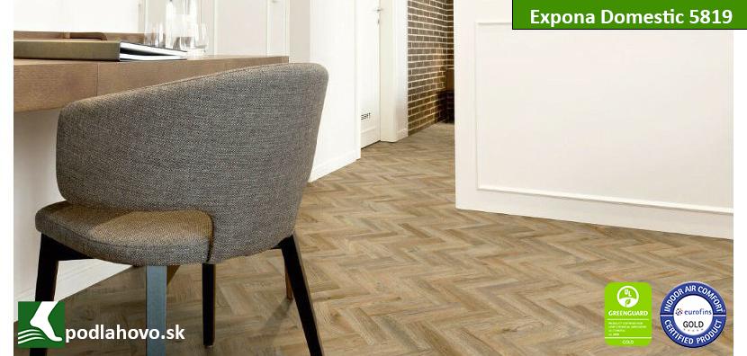 Expona Domestic C15 5819 Cambridge Oak Mini Parquet - BIO vinylová podlaha
