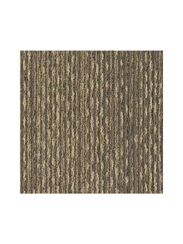 Hnědý koberec kobercový čtverec Forbo Tessera In touch 3307 crochet