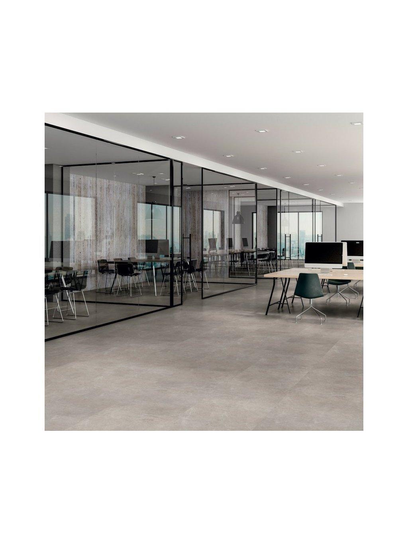 Vinylová lepená podlaha Objectflor Expona Commercial 5034 Pure Cement realizace v místnosti