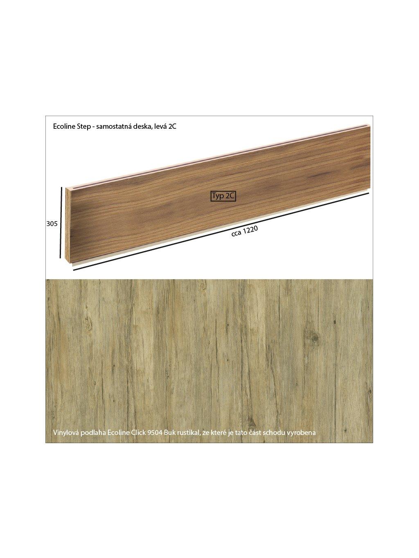 Vinylové schody Ecoline Step samostatná deska 2C Ecoline Click 9504 Buk rustikal