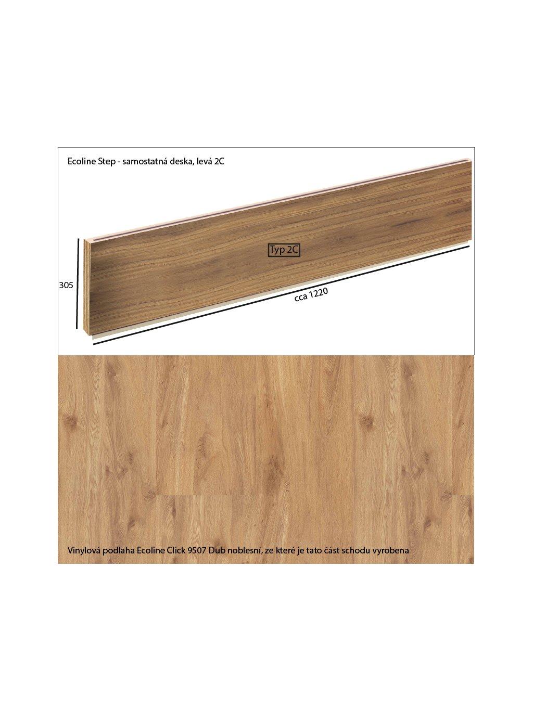 Vinylové schody Ecoline Step samostatná deska 2C Ecoline Click 9507 Dub noblesní