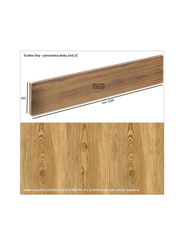 Vinylové schody Ecoline Step samostatná deska 2C Ecoline Click 9562 Modřín vita