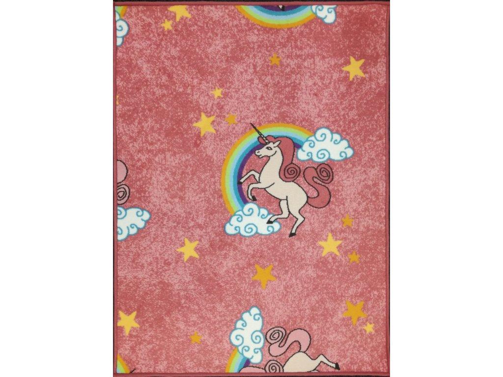 Dětský kusový koberec Jednorožec 90 x 120 cm