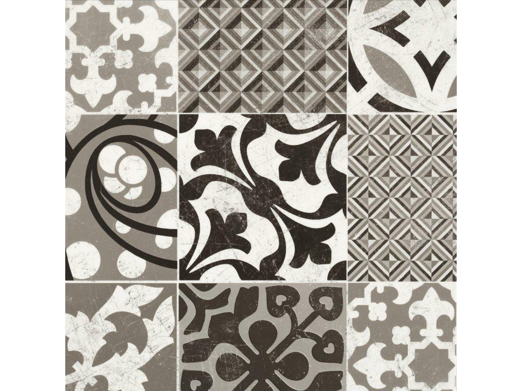 PVC podlaha Texline 1981 Provence Black White