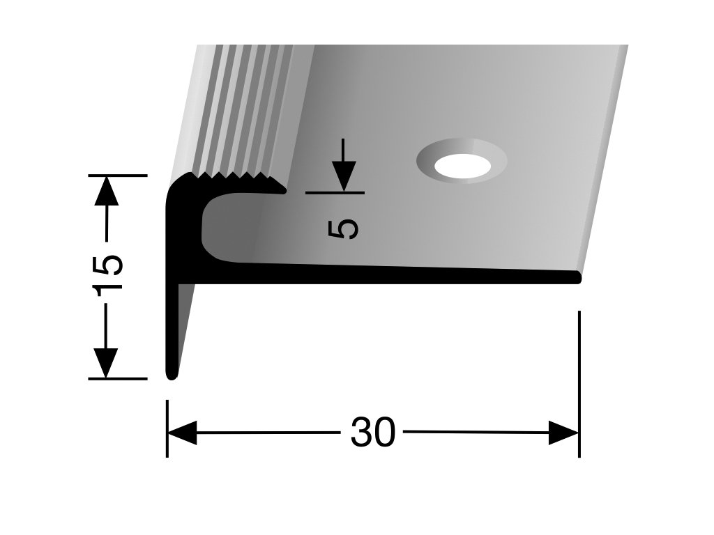 schodovy profil pro krytiny do 5 mm sroubovaci