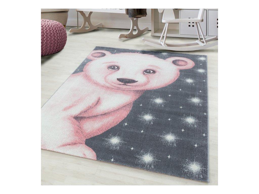 Dětský koberec Bambi 810 pink