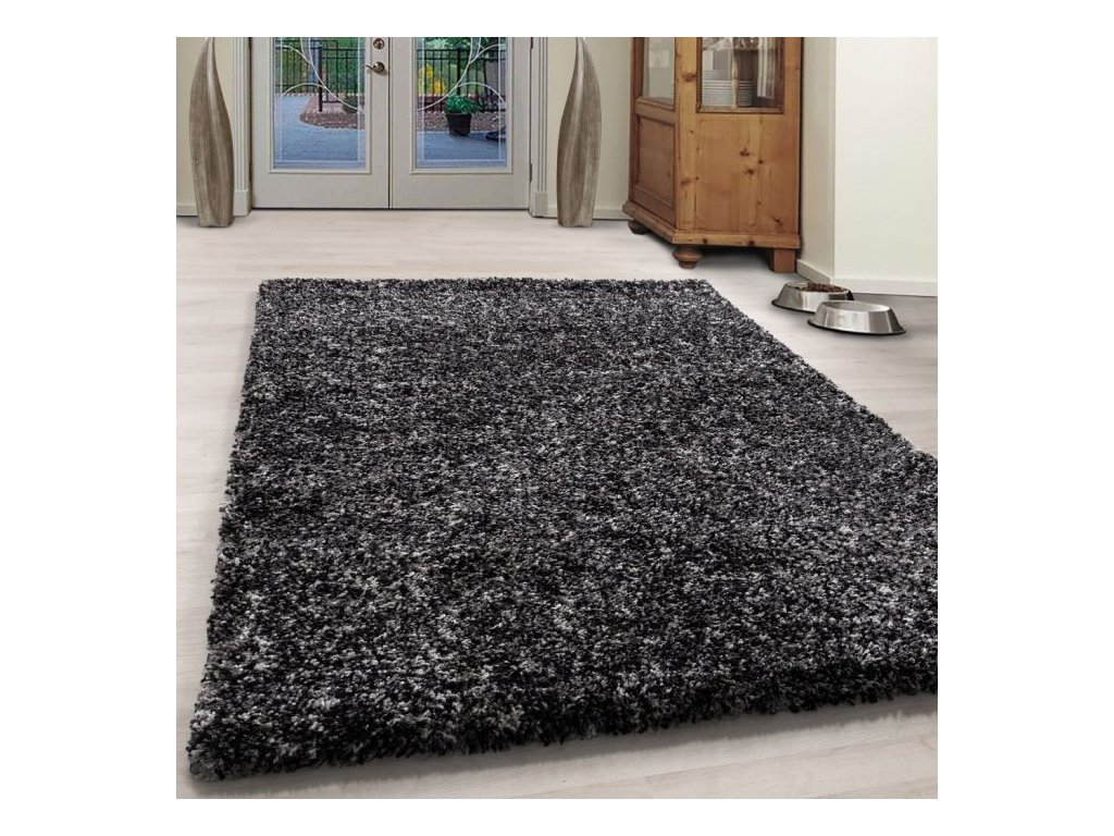 Kusový koberec Enjoy shaggy 4500 antrazit