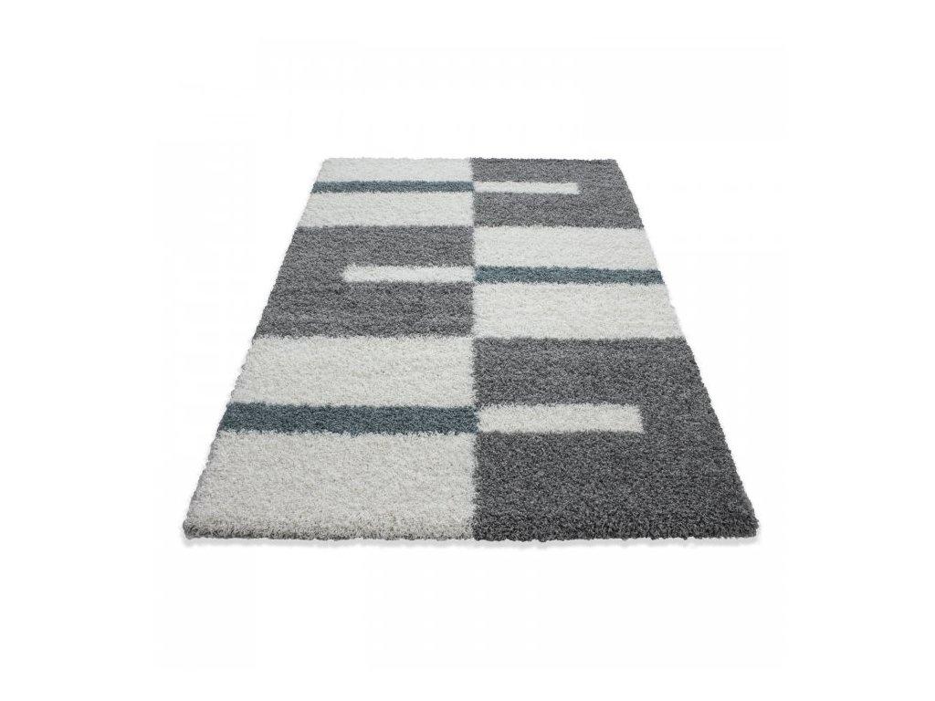 Kusový koberec Gala shaggy 2505 turkis