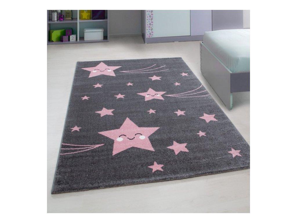 Dětský koberec Kids 610 pink