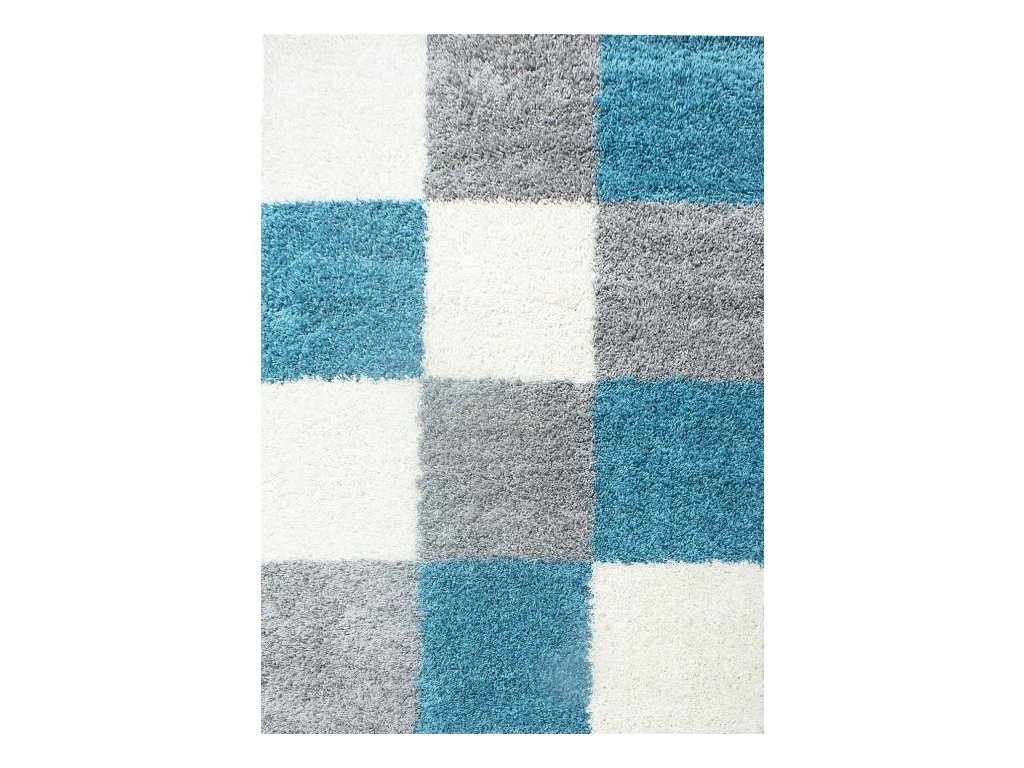 Kusový koberec Life Shaggy 1501 tyrkys