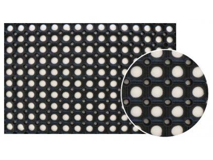 gumova rohozka 40 x 60 cm cerna