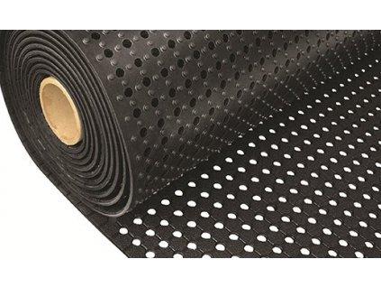 Černá gumová univerzální rohož - 933 x 91 x 1 cm