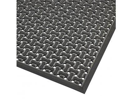 Černá oboustranná protiskluzová rohož Superflow XT, Nitrile - 60 x 90 s 0,85 cm