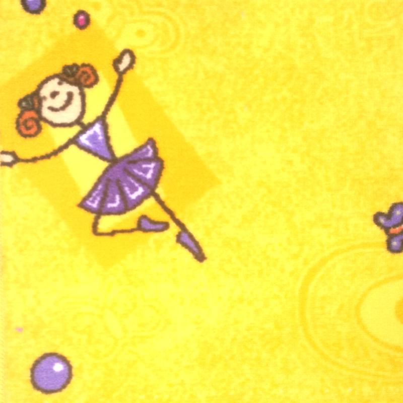 Dětský koberec Taniny 2450 žlutý Šíře role: 4 m