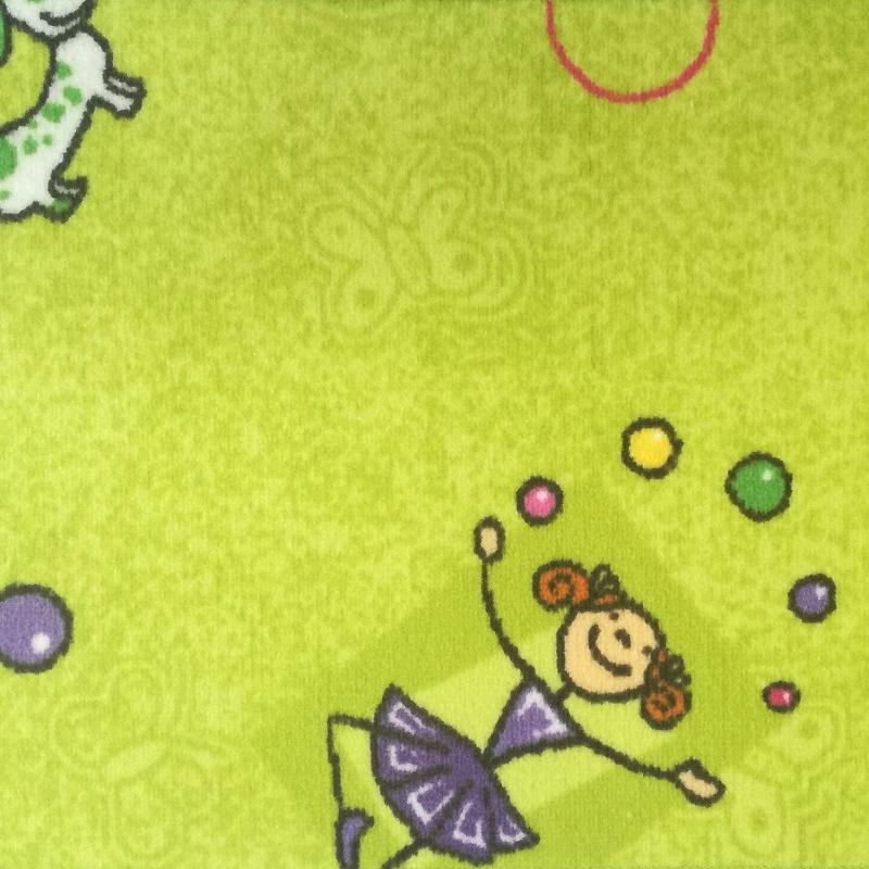 Dětský koberec Taniny 1688 zelený Šíře role: 4 m