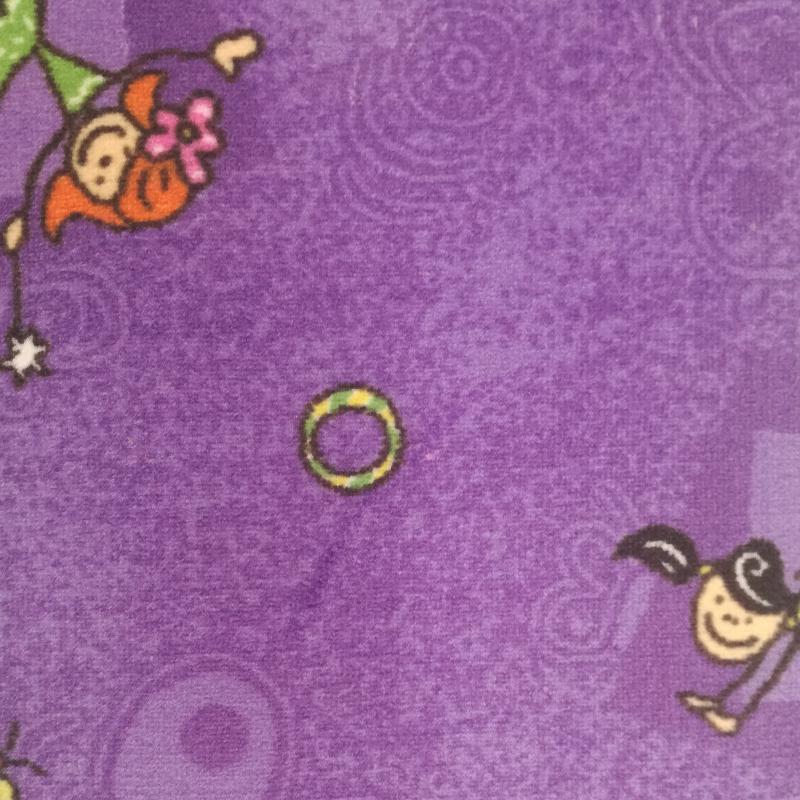 Dětský koberec Taniny 7496 fialový Šíře role: 4 m