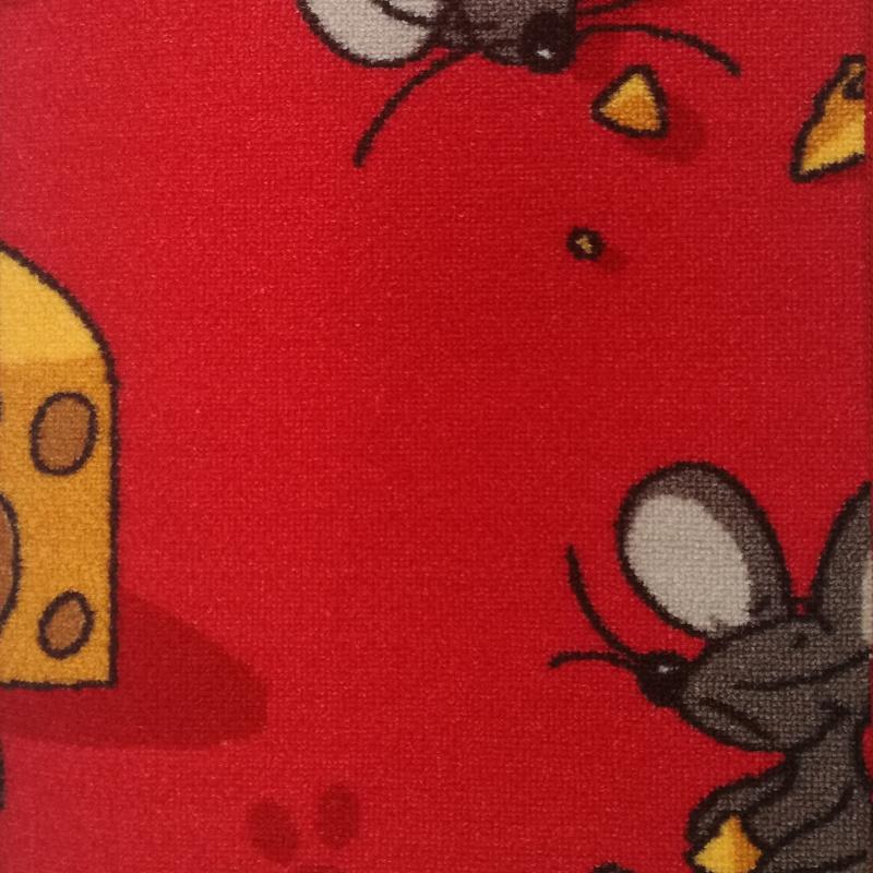 Dětský koberec Myšky 5744 červený Šíře role: 4 m