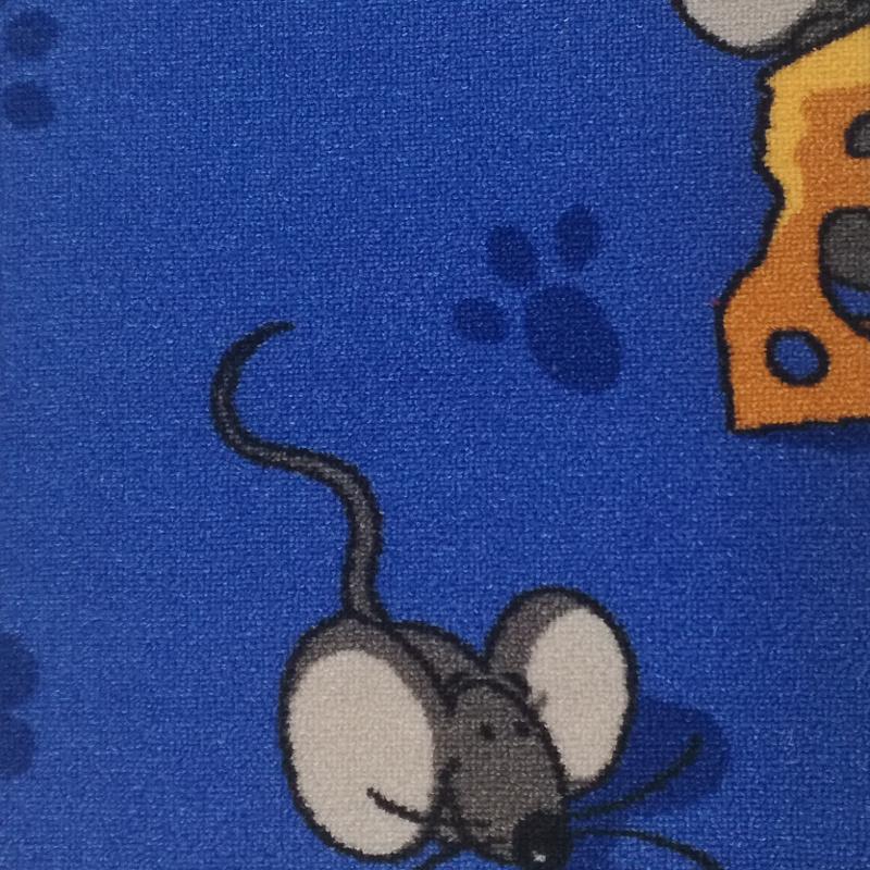 Dětský koberec Myšky 6742 modrý Šíře role: 4 m