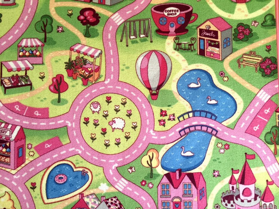 Dětský koberec Sladké město Rozměr: 80x120 cm