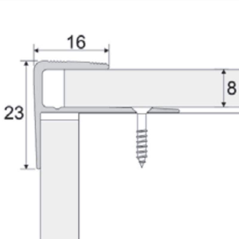 Schodová hrana pro plovoucí podlahy 8 mm Dekor: dub E09 3-60-2709