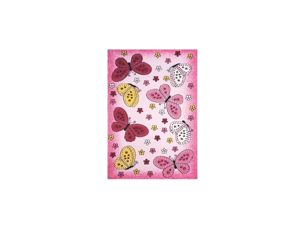 kusovy koberec toys pink c 259