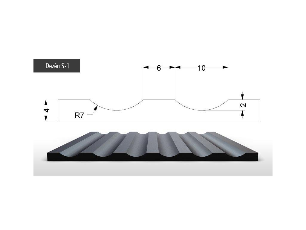 Pryžové podlahoviny (Vzor s-8)