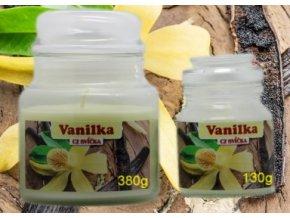 cz svicka ve skle vanilka vonna